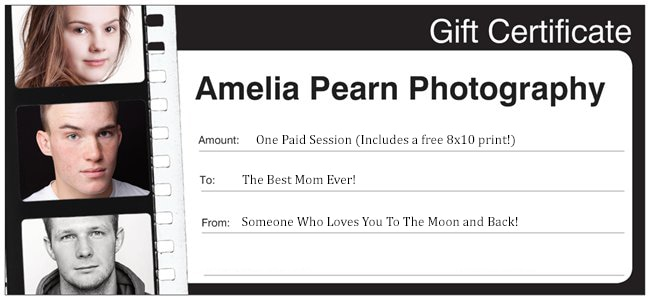 Mother's Day Gift Certificates Photo gifts